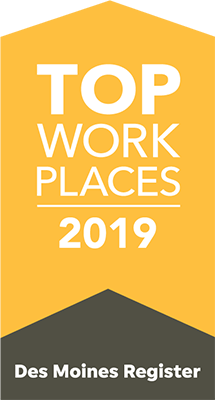 CRBT voted 2019 Top Workplace by the Des Moines Register